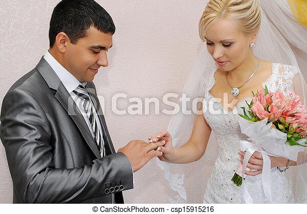 câmbio, anéis, casório - csp15915216
