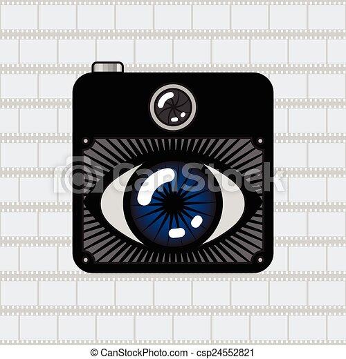 câmera foto, olho - csp24552821