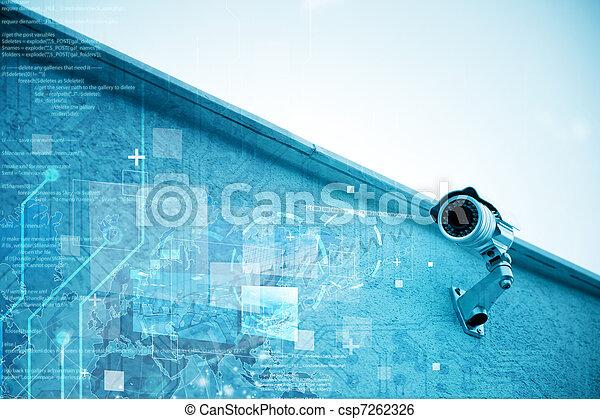 câmera segurança - csp7262326