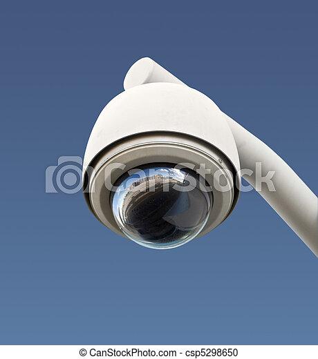 câmera segurança, isolado - csp5298650