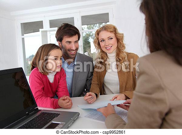 cégtábla, real-estate, összehúz, család - csp9952861