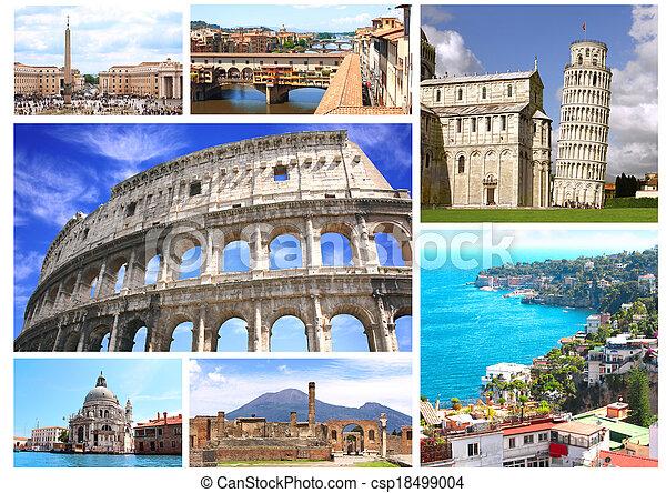célèbre, italie, endroits - csp18499004