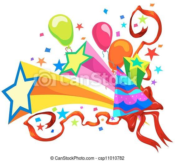 célébration, illustration - csp11010782