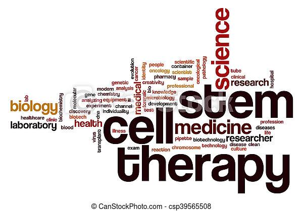 célula, terapia, palavra, nuvem, caule - csp39565508