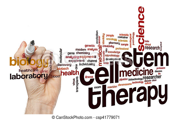 célula, terapia, palavra, nuvem, caule - csp41779071