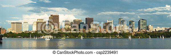 Boston en el centro del panorama - csp2239491