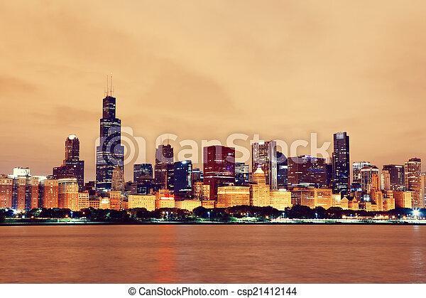 Chicago en el centro - csp21412144