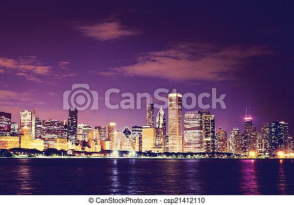 Chicago en el centro - csp21412110