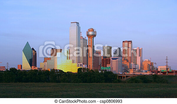 Dallas del centro, Texas - csp0806993