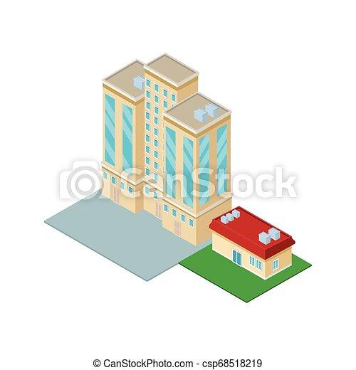 En el centro y en el edificio de la casa - csp68518219