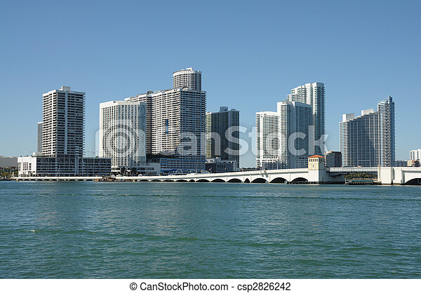 Centro Miami Skyline, Florida USA - csp2826242