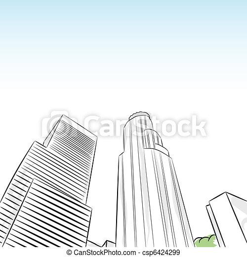 Downtown Los Angeleses Distrito Financiero - csp6424299