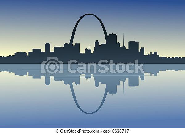 Saint Louis en la orilla del río - csp16636717