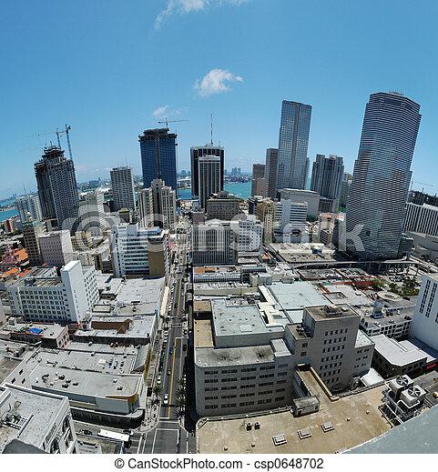 En el centro de Miami - csp0648702