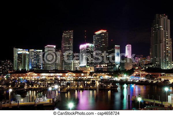 En el centro de Miami - csp4658724