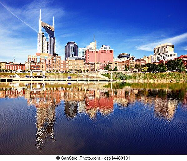 Al centro de Nashville - csp14480101