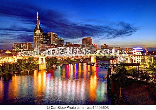 Al centro de Nashville - csp14495603