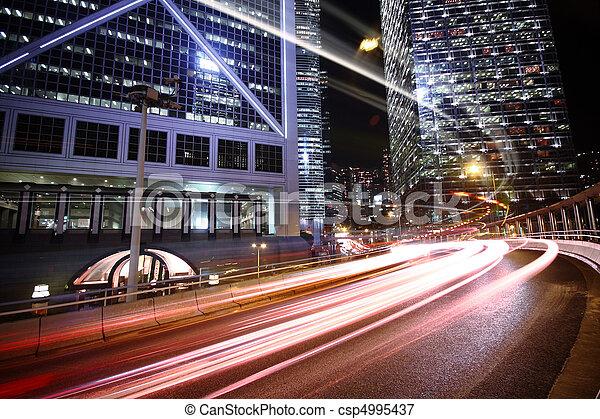 céntrico, tráfico, camino, área - csp4995437