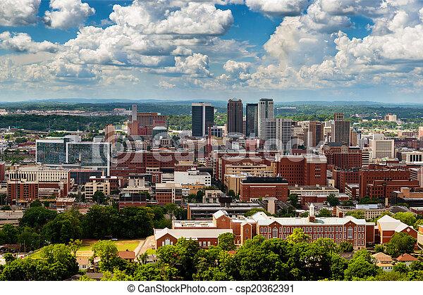 En el centro de Birmingham, Alabama, de Vulcan Park - csp20362391