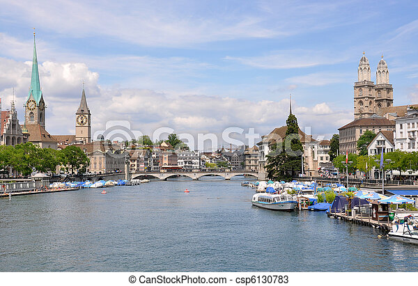 Zurich en el centro - csp6130783