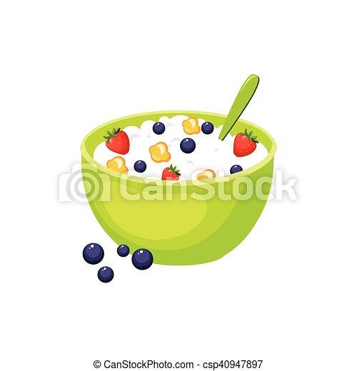 Céréales Nourriture Isolé élément Petit Déjeuner Icône