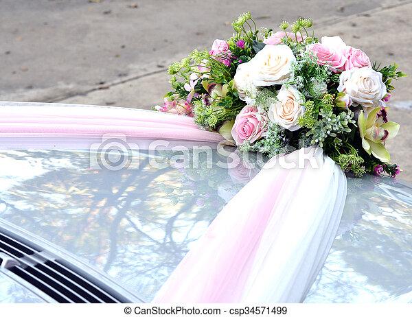 c r monie bouquet rose artificiel capot mariage. Black Bedroom Furniture Sets. Home Design Ideas