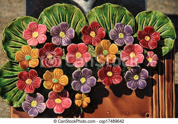 c ramique fleurs tombe fleurs c ramique thombstone tombe france. Black Bedroom Furniture Sets. Home Design Ideas