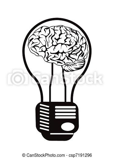 cérebro, bulbo leve - csp7191296