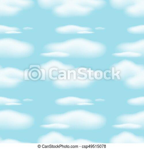 Ceu Azul Nuvens Seamless Fundo Azul Nuvens Ceu Seamless