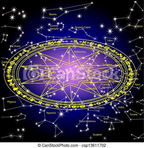 céu, constelação, estrelas - csp13611702