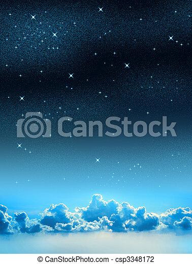 céu estrelado - csp3348172