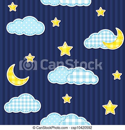 céu, noturna - csp10420592