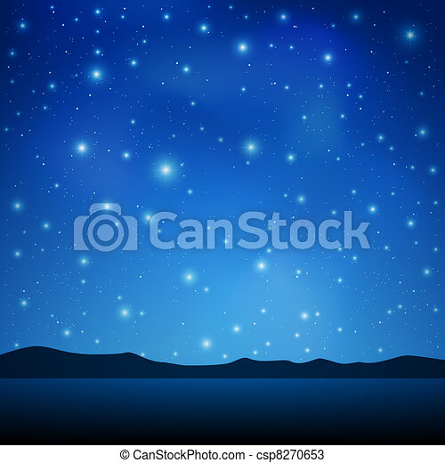 céu, noturna - csp8270653
