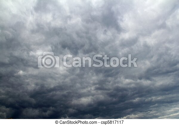 céu, nublado, tropicais, stom, dramático, antes de - csp5817117