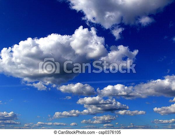 céu, nuvens - csp0376105