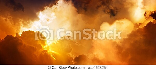 céu, pôr do sol - csp4623254