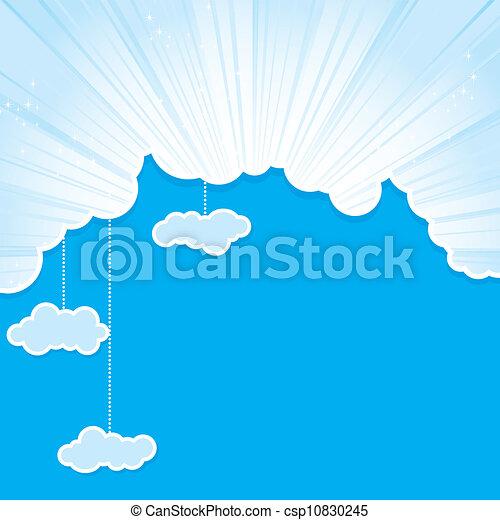 céu, quadro, nuvens - csp10830245
