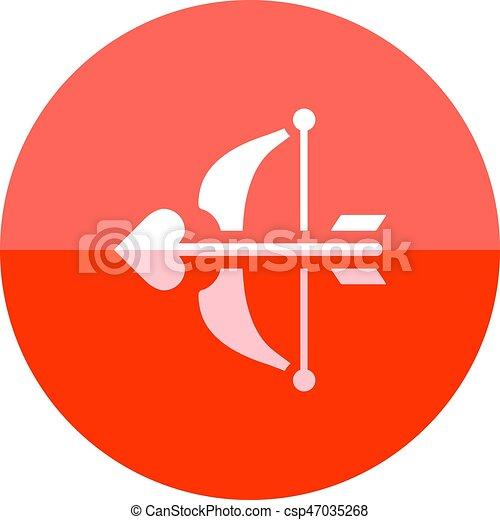 círculo, -, ícone seta - csp47035268