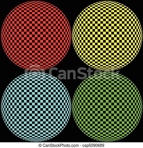 círculo, óptico, ilustração - csp5090689