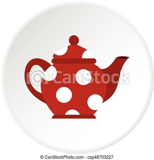 Círculo de iconos Kettle - csp48703227