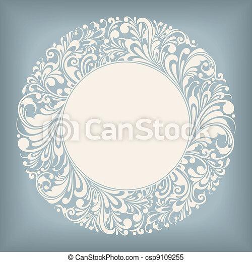 La etiqueta del círculo de adornos - csp9109255