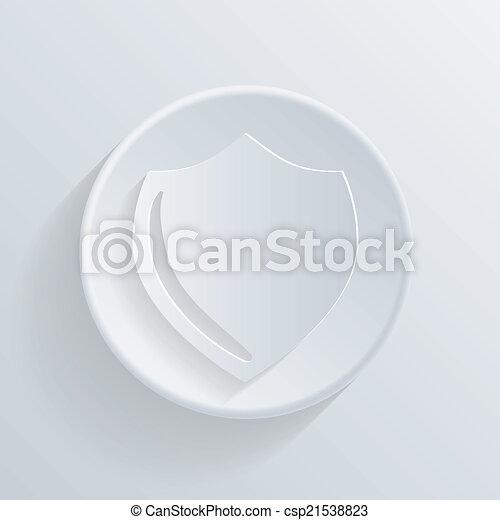 círculo, proteção, escudo, ícone, shadow. - csp21538823