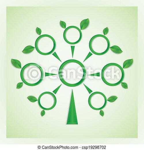 Círculos, árbol, leaves. Círculos, hojas, branches., árbol clipart ...
