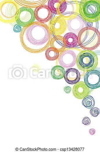 círculos, abstratos, experiência colorida - csp13428077