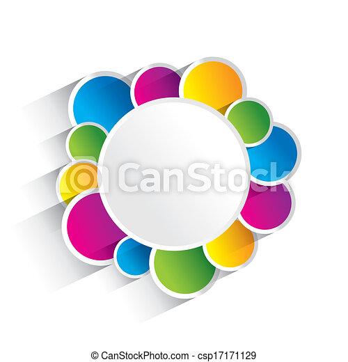 círculos, colorido, creativo - csp17171129