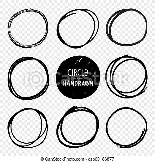 Dibujos en círculos a mano - csp63186877