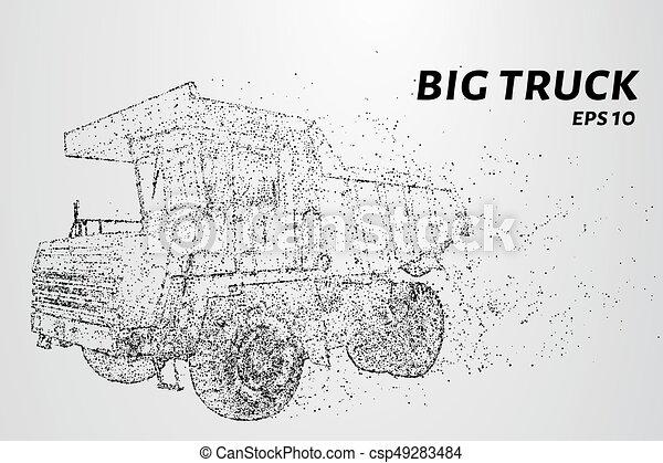 círculos, dots., grande, ilustração, particles., consiste, vetorial, caminhão, pequeno - csp49283484