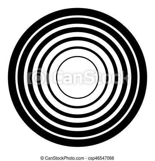 círculos, irradiar, graphic., radial, concéntrico, geométrico, element., circular - csp46547066