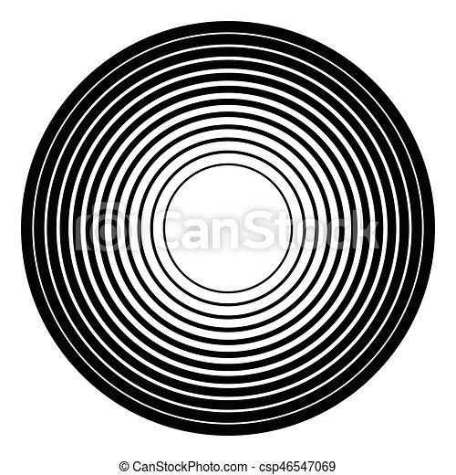 círculos, irradiar, graphic., radial, concéntrico, geométrico, element., circular - csp46547069
