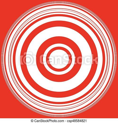 círculos, irradiar, patrón, resumen, pattern., /, círculos, anillos, radial, monocromo, geométrico, concéntrico, circular - csp48584821